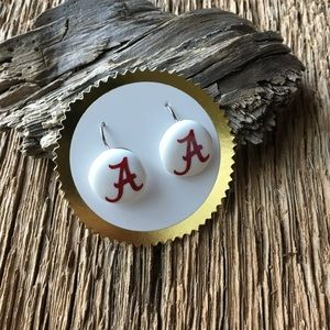 Jewelry - Alabama Crimson Tide earrings, Alabama roll tide
